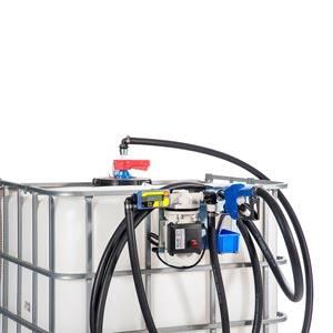 097-5601-230 - Kit basic Adblue - Elektrische transferpomp voor Adblue - 230V - 40 L/min - Type 3 - debietmeter - SEC connector - voor IBC containers