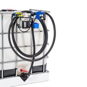 097-5611-230 - Kit basic Adblue - Elektrische transferpomp voor Adblue - 230V - 40 L/min - Type 3 - debietmeter - SEC connector S60x6 - voor IBC containers