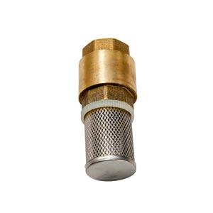 """R1-0136-0006 - Voetklep 1""""F met RVS filter met kogel - messing behuizing"""