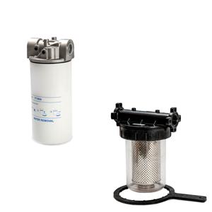 Filter voor waterafscheiding en filterpatronen