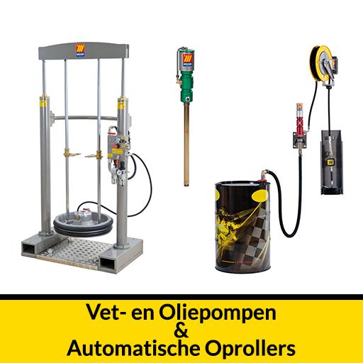 vet en oliepompen en automatische oprollers